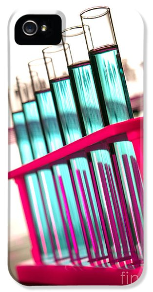 Equipment iPhone 5 Cases - Test Tubes in Science Research Lab iPhone 5 Case by Olivier Le Queinec