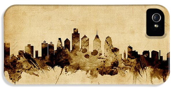 Philadelphia Pennsylvania Skyline IPhone 5 / 5s Case by Michael Tompsett
