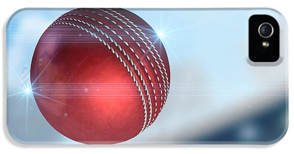 Ball Flying Through The Air IPhone 5 / 5s Case by Allan Swart