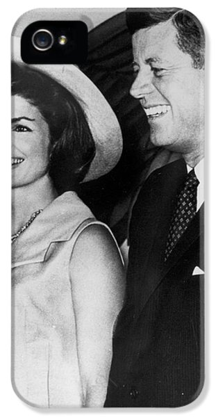 First Lady iPhone 5 Cases - John F Kennedy (1917-1963) iPhone 5 Case by Granger