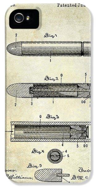 Ammunition iPhone 5 Cases - 1890 Cartridge Patent iPhone 5 Case by Jon Neidert