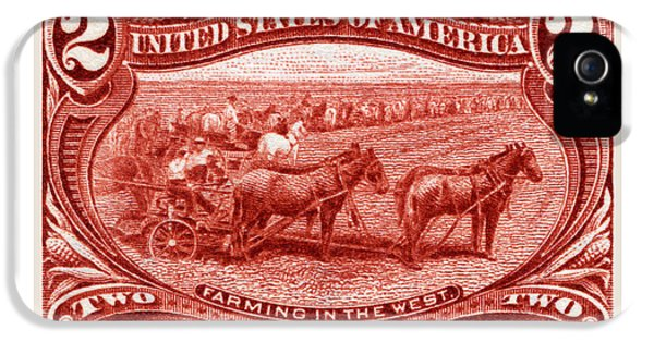 1898 Farming In The West Stamp IPhone 5 / 5s Case by Historic Image
