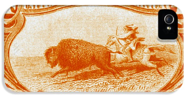 1898 Indian Hunting Buffalo IPhone 5 / 5s Case by Historic Image