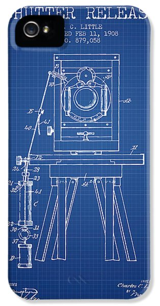 Motion Picture iPhone 5 Cases - 1908 Shutter Release Patent - Blueprint iPhone 5 Case by Aged Pixel