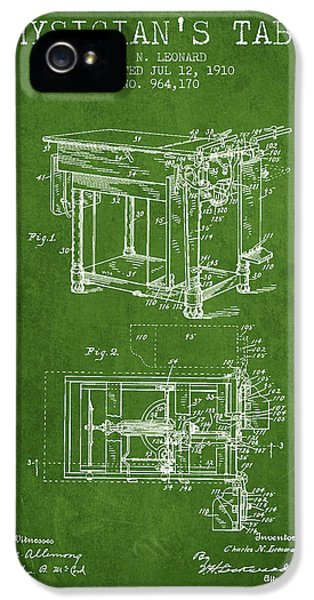 Illness iPhone 5 Cases - 1910 Physicians Table patent - Green iPhone 5 Case by Aged Pixel