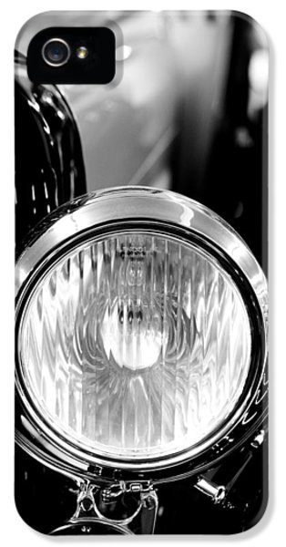 1925 Lincoln Town Car Headlight IPhone 5 / 5s Case by Sebastian Musial