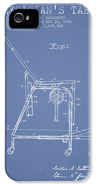 Illness iPhone 5 Cases - 1926 Physicians Table patent - Light Blue iPhone 5 Case by Aged Pixel