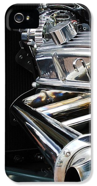 1929 Roadster iPhone 5 Cases - 1929 Ford Roadster Pickup Engine iPhone 5 Case by Jill Reger