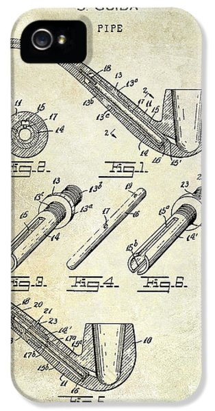 Pipes iPhone 5 Cases - 1935 Pipe Patent  iPhone 5 Case by Jon Neidert