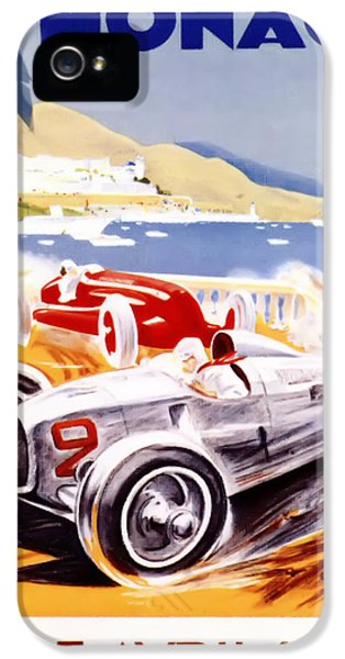 Formula One iPhone 5 Cases - 1936 F1 Monaco Grand Prix  iPhone 5 Case by Nomad Art And  Design