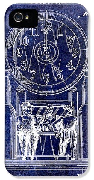 Jackson 5 iPhone 5 Cases - 1937 Beer Clock Patent Blue iPhone 5 Case by Jon Neidert