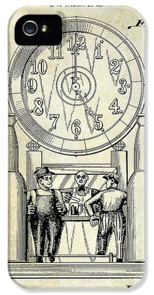 Jackson 5 iPhone 5 Cases - 1937 Beer Clock Patent iPhone 5 Case by Jon Neidert