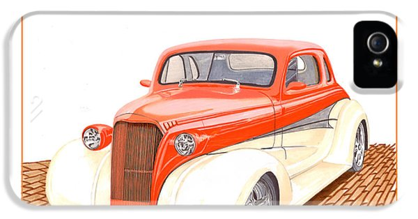 Firewall iPhone 5 Cases - 1937 Chevrolet street rod iPhone 5 Case by Jack Pumphrey