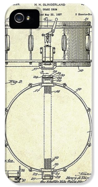 1939 Slingerland Snare Drum Patent S1 IPhone 5 / 5s Case by Gary Bodnar