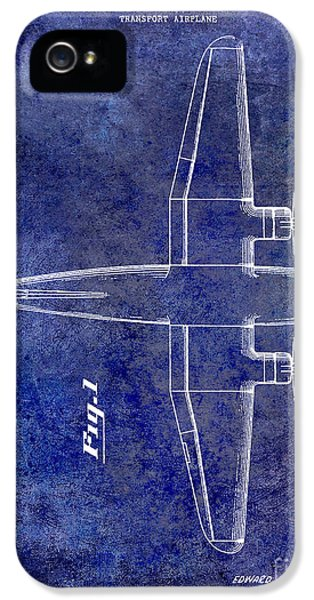Mcdonnell Douglas iPhone 5 Cases - 1945 Transport Airplane Patent Blue iPhone 5 Case by Jon Neidert
