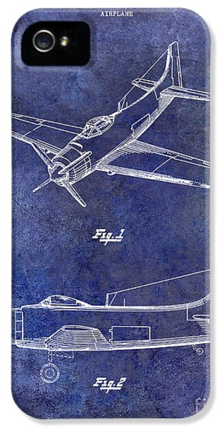 Mcdonnell Douglas iPhone 5 Cases - 1947 Airplane Patent Blue iPhone 5 Case by Jon Neidert