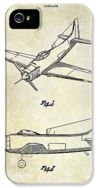 Mcdonnell Douglas iPhone 5 Cases - 1947 Airplane Patent iPhone 5 Case by Jon Neidert