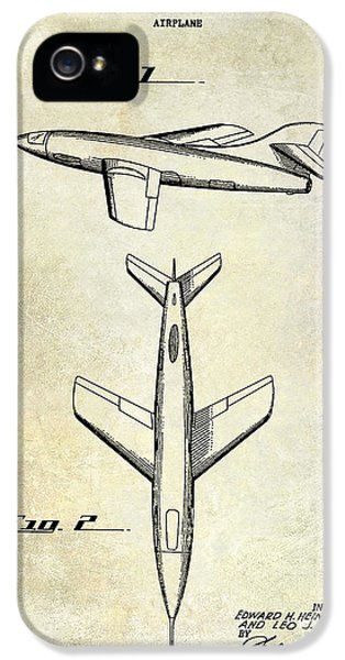 Mcdonnell Douglas iPhone 5 Cases - 1947 Jet Airplane Patent iPhone 5 Case by Jon Neidert