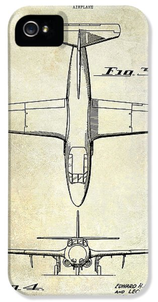 Mcdonnell Douglas iPhone 5 Cases - 1949 Airplane Patent Drawing iPhone 5 Case by Jon Neidert