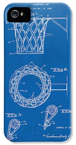 Diagram iPhone 5 Cases - 1951 Basketball Net Patent Artwork - Blueprint iPhone 5 Case by Nikki Marie Smith
