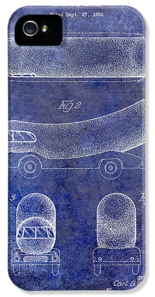 Hot Dog iPhone 5 Cases - 1954 Weiner Mobile Patent Blue iPhone 5 Case by Jon Neidert
