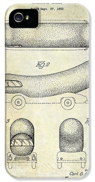 Hot Dog iPhone 5 Cases - 1954 Weiner Mobile Patent iPhone 5 Case by Jon Neidert