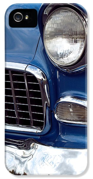 Vintage Car iPhone 5 Cases - 1955 Chevy Front End iPhone 5 Case by Anna Lisa Yoder