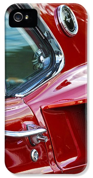 Chrome iPhone 5 Cases - 1969 Ford Mustang Mach 1 Side Scoop iPhone 5 Case by Jill Reger