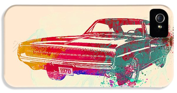 Muscle Car iPhone 5 Cases - 1970 Dodge Charger 1 iPhone 5 Case by Naxart Studio