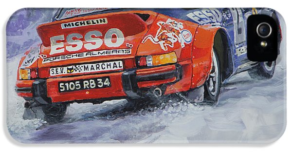 Classic Porsche 911 iPhone 5 Cases - 1980 Rallye Monte Carlo Porsche 911 SC Hannu Mikkola  iPhone 5 Case by Yuriy Shevchuk