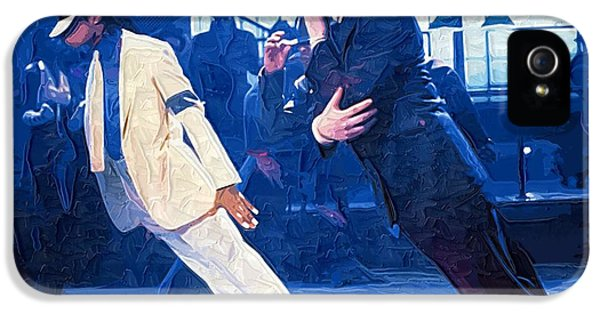 Jackson 5 iPhone 5 Cases - 1987 Michael Jackson on the set of the Smooth Criminal iPhone 5 Case by Victor Gladkiy
