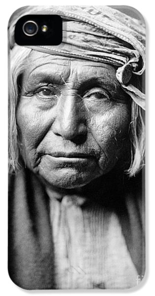 Native American iPhone 5 Cases - APACHE MAN, c1906 iPhone 5 Case by Granger