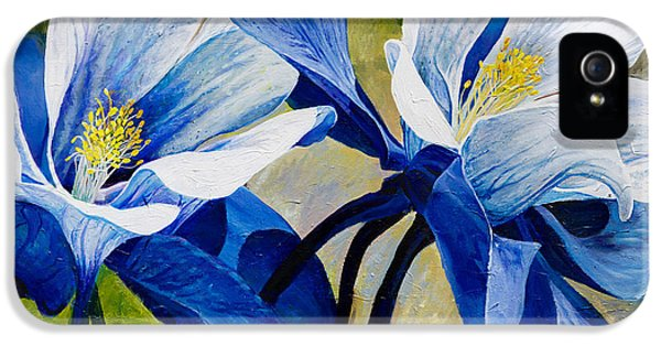 Blue Leaf iPhone 5 Cases - Colorado Columbines iPhone 5 Case by Aaron Spong