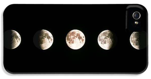 Moon iPhone 5 Cases - Composite Image Of The Phases Of The Moon iPhone 5 Case by John Sanford