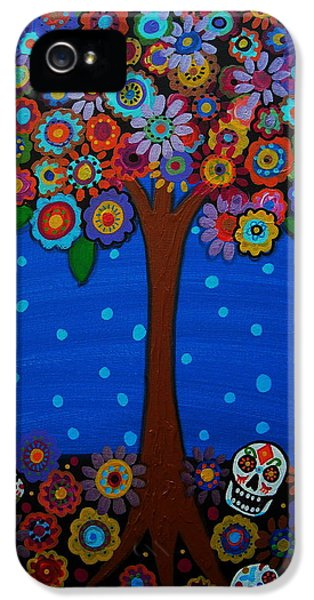Mexican iPhone 5 Cases - Day Of The Dead iPhone 5 Case by Pristine Cartera Turkus