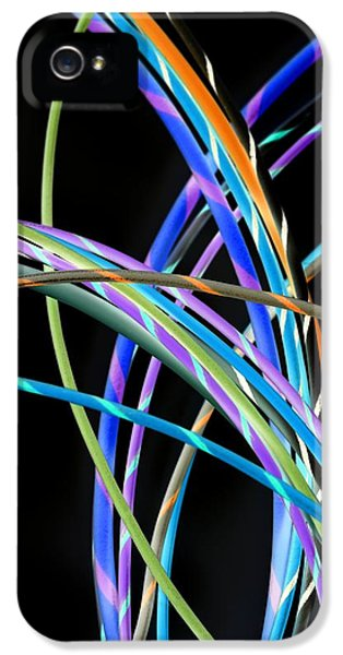 Technology Equipment iPhone 5 Cases - Electrical Wires iPhone 5 Case by Tek Image