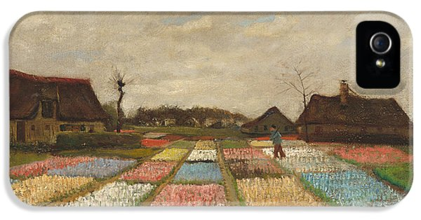 Allotment iPhone 5 Cases - Flower Beds in Holland iPhone 5 Case by Vincent Van Gogh
