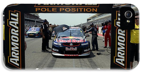 Pole Position iPhone 5 Cases - Jamie Whincup Triple Eight Racing Red Bull Holden Commodore iPhone 5 Case by Bourne Images