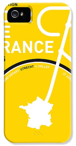 Spain iPhone 5 Cases - My Tour De France Minimal Poster iPhone 5 Case by Chungkong Art