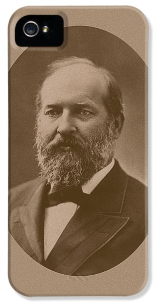 President Of The United States iPhone 5 Cases - President James Garfield iPhone 5 Case by War Is Hell Store