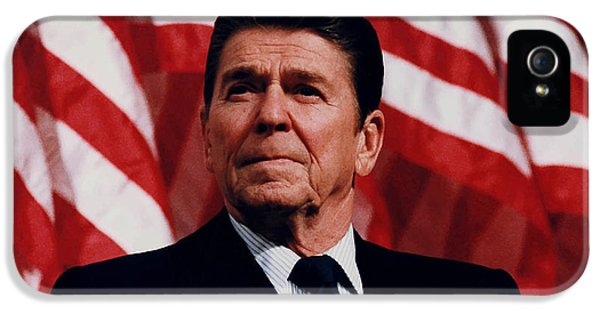 American Flag iPhone 5 Cases - President Ronald Reagan iPhone 5 Case by War Is Hell Store