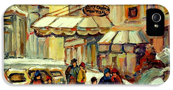 Joint Chiefs iPhone 5 Cases - Ritz Carlton Montreal Streetscene iPhone 5 Case by Carole Spandau