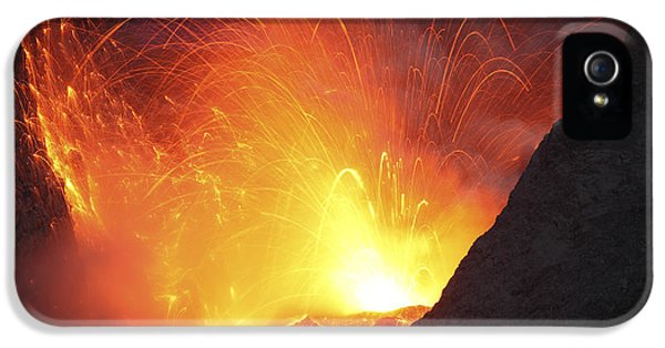 Outburst iPhone 5 Cases - Strombolian Type Eruption Of Batu Tara iPhone 5 Case by Richard Roscoe