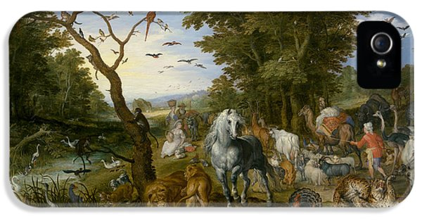 The Entry Of The Animals Into Noah's Ark IPhone 5 / 5s Case by Jan Brueghel the Elder