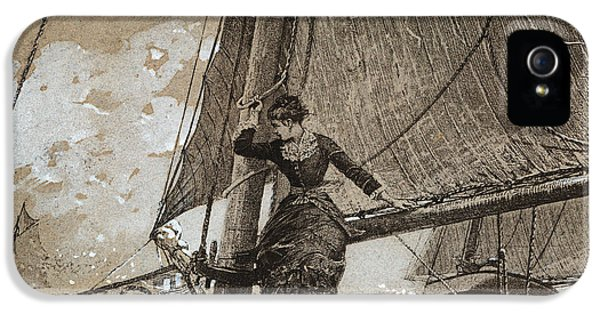 Homer iPhone 5 Cases - Yachting Girl iPhone 5 Case by Winslow Homer