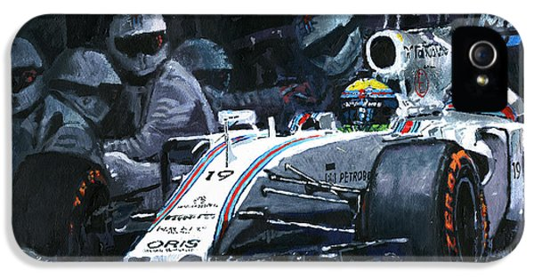 2015 Williams Fw37 F1 Pit Stop Spain Gp Massa  IPhone 5 / 5s Case by Yuriy Shevchuk