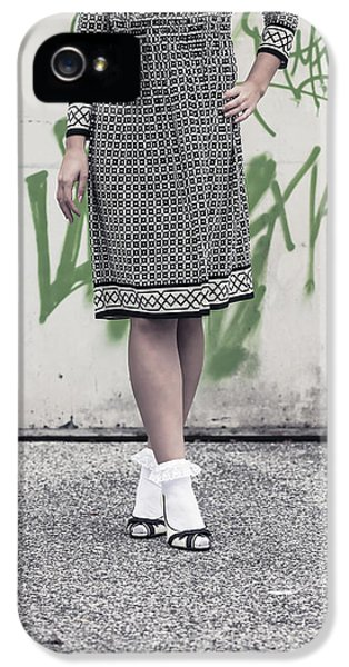 Stockings iPhone 5 Cases - Black And White iPhone 5 Case by Joana Kruse