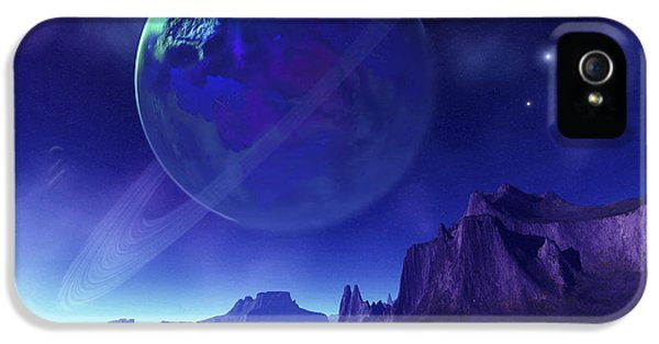 Environment Concept Art iPhone 5 Cases - Cosmic Seascape On Another World iPhone 5 Case by Corey Ford
