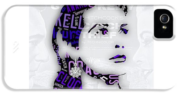 Grace Kelly Movies In Words IPhone 5 / 5s Case by Marvin Blaine