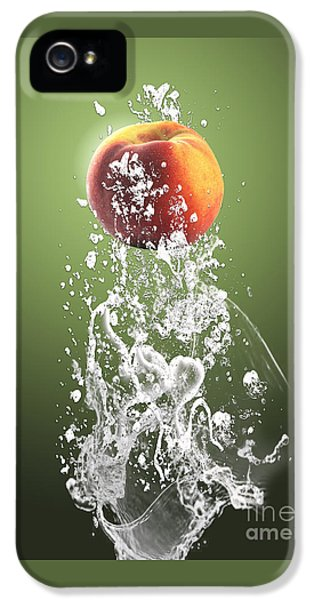 Peach Splash IPhone 5 / 5s Case by Marvin Blaine